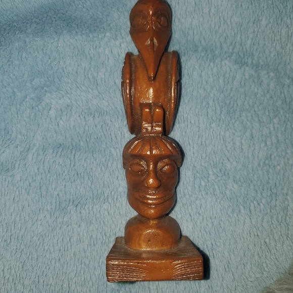 Hand carved totem pole